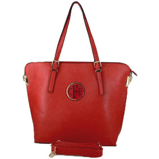 Monogram Tote Bag red