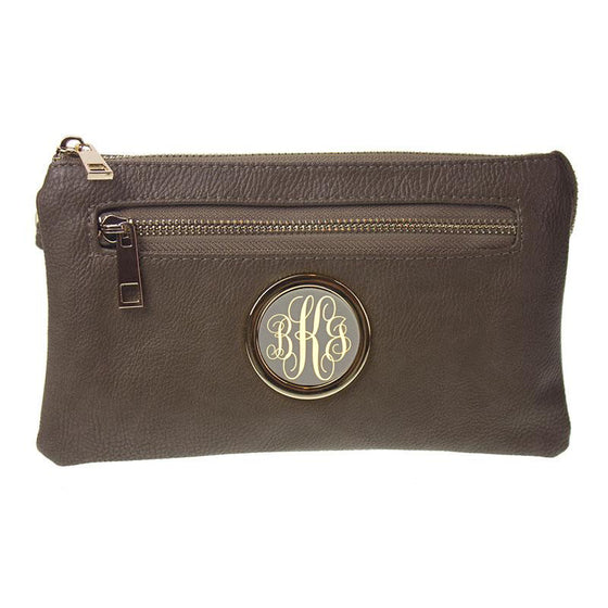 Monogram Purse - khaki