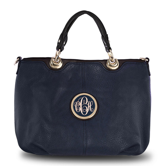 Monogram Purse Handbag - navy