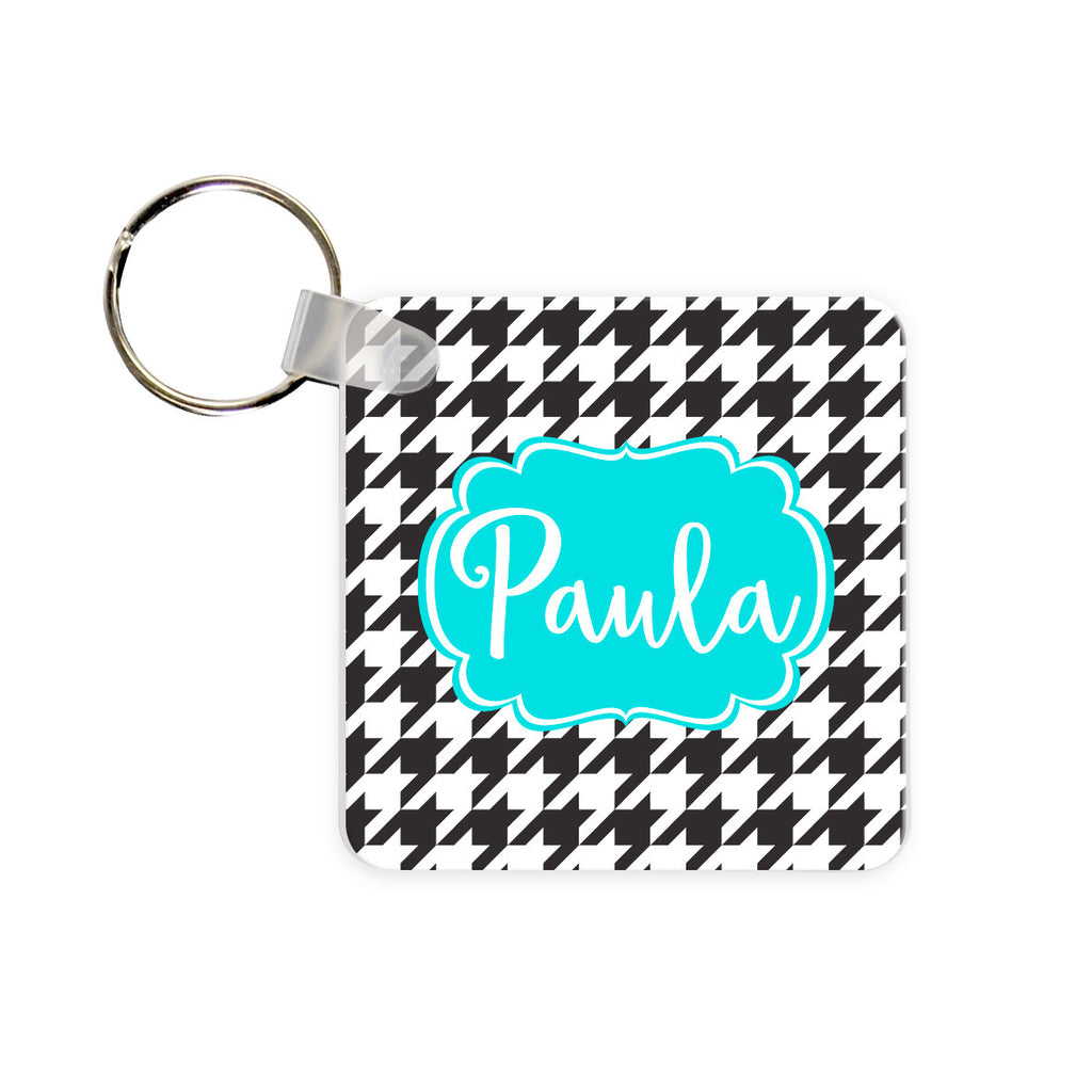 Monogram Key Chain - Houndstooth