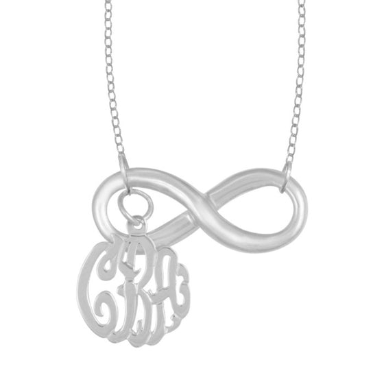 Sterling Silver Infinity Monogram Necklace