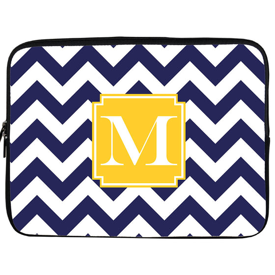 Chevron Monogram iPad or Kindle Sleeve