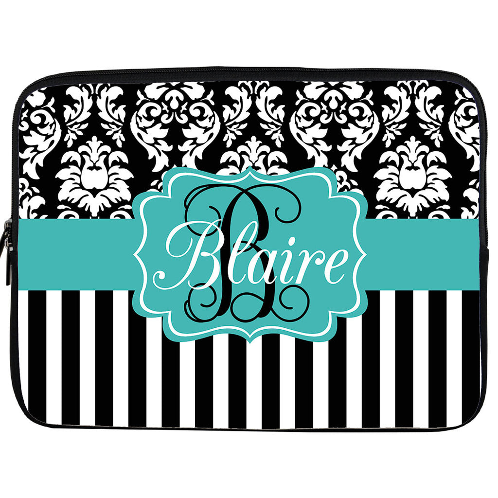 Monogram iPad or Kindle Sleeve-Striped