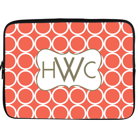 Monogram iPad/Kindle Sleeve-Hoops