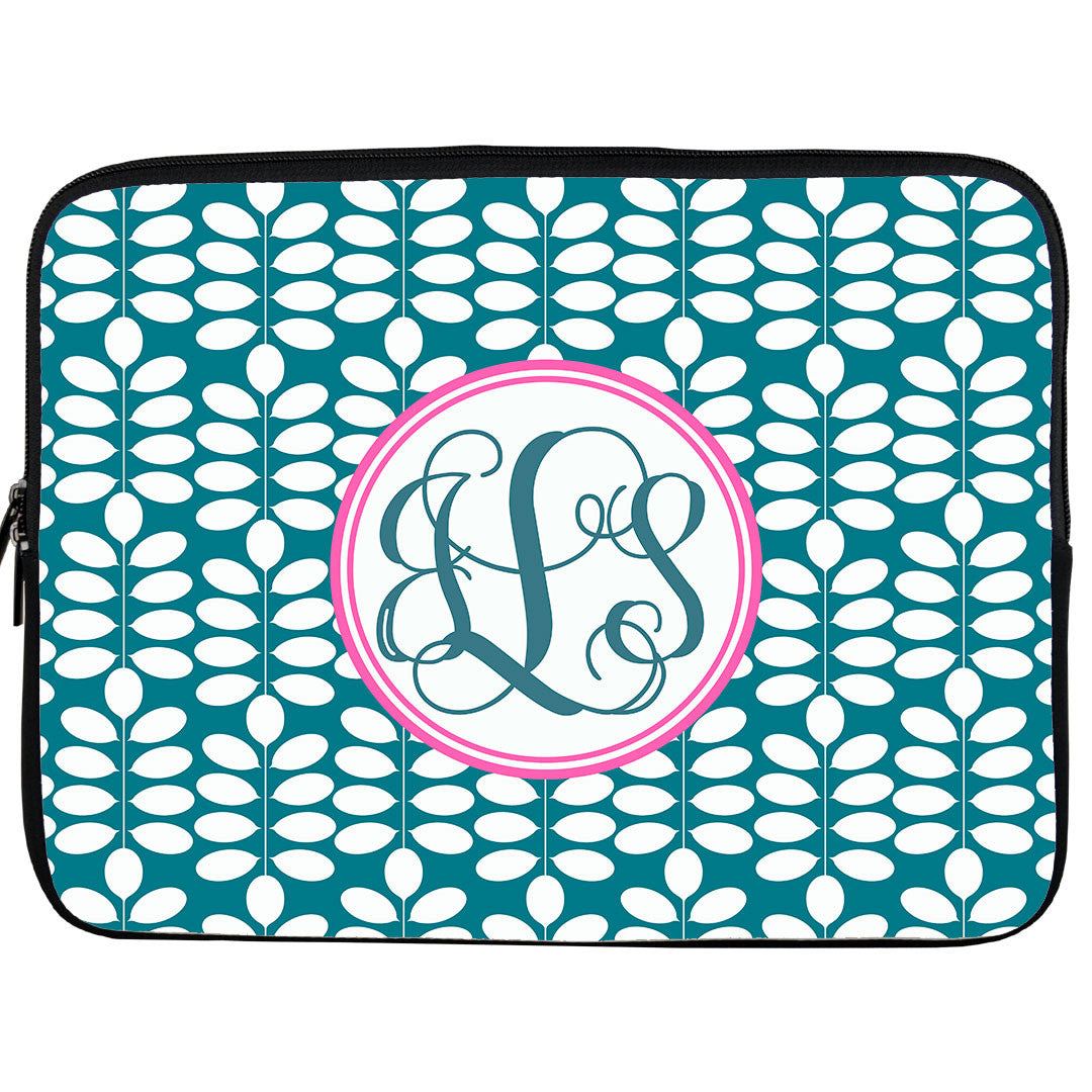 Monogram iPad or Kindle Sleeve-Cloverleaf