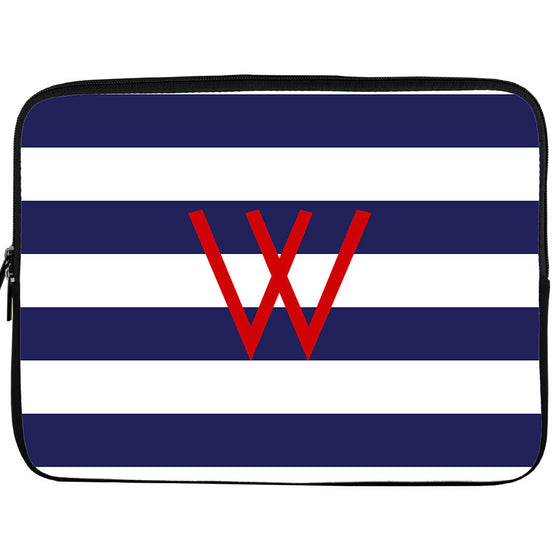 Monogram iPad or Kindle Sleeve-Rugby Stripe