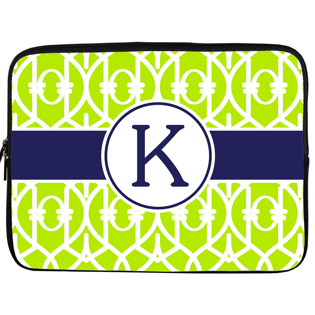 Monogram iPad or Kindle Sleeve-Trellis