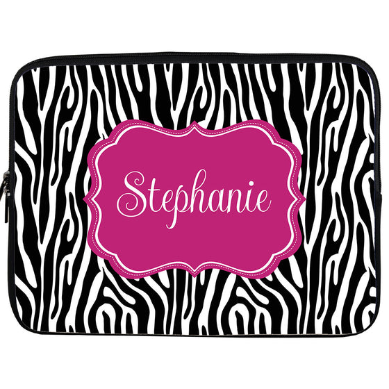 Monogram iPad or Kindle Sleeve-Zebra