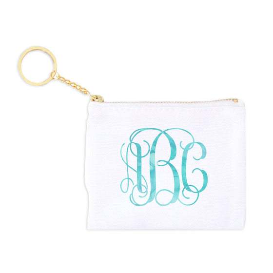 Monogram Key Fob Coin Purse - Vine Script
