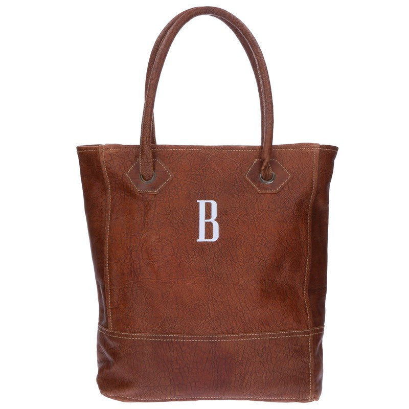 Monogram Rustic Leather Tote Bag 3