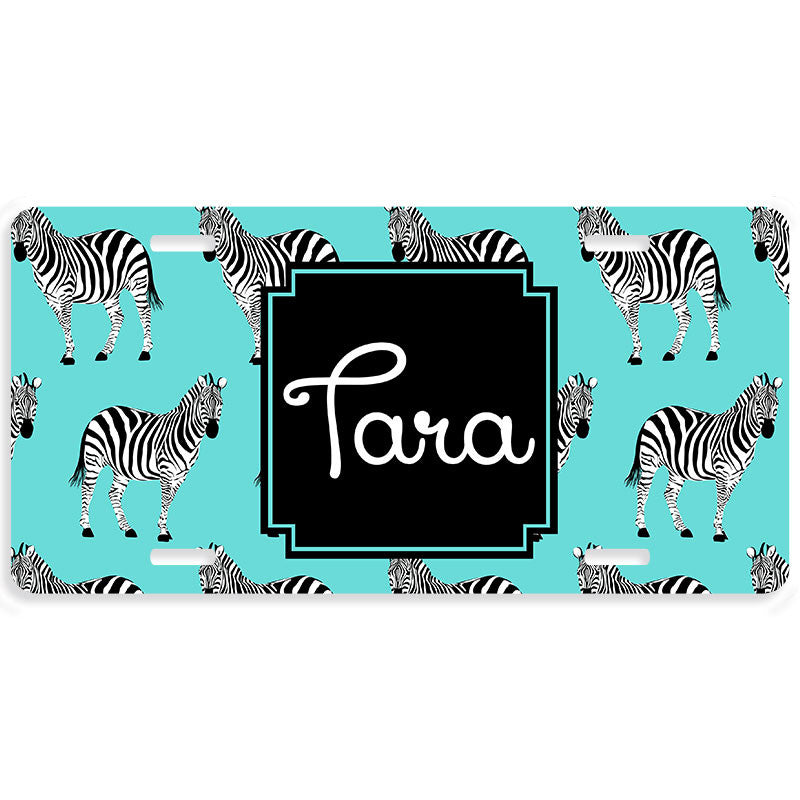 Personalized Car Tag License Plate - Zebra