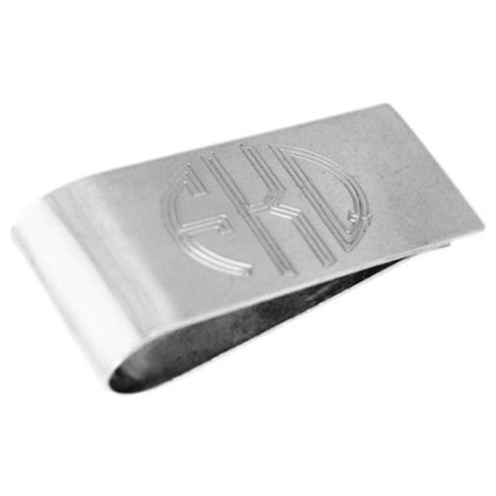 Sterling Silver Monogram Money Clip