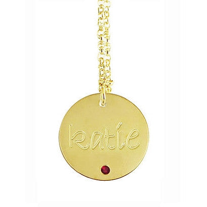 engraved-disc-birthstone-necklace