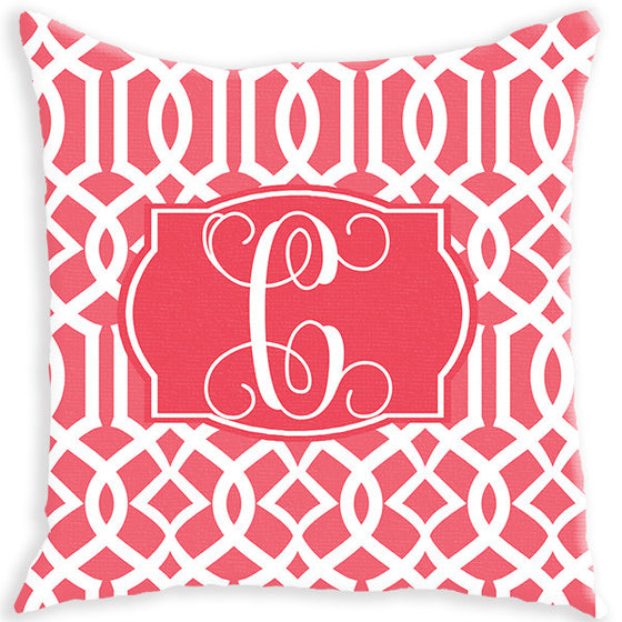 Monogram Pillow - Lattice