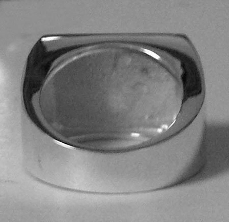 Monogram Rectangle Signet Ring - Back View