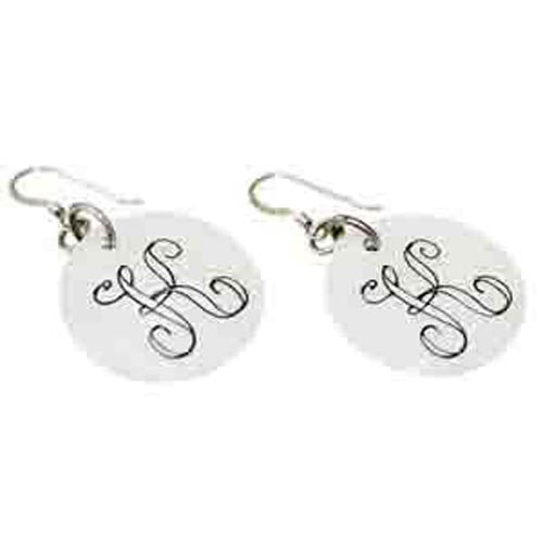 Monogram Shell Earrings - White