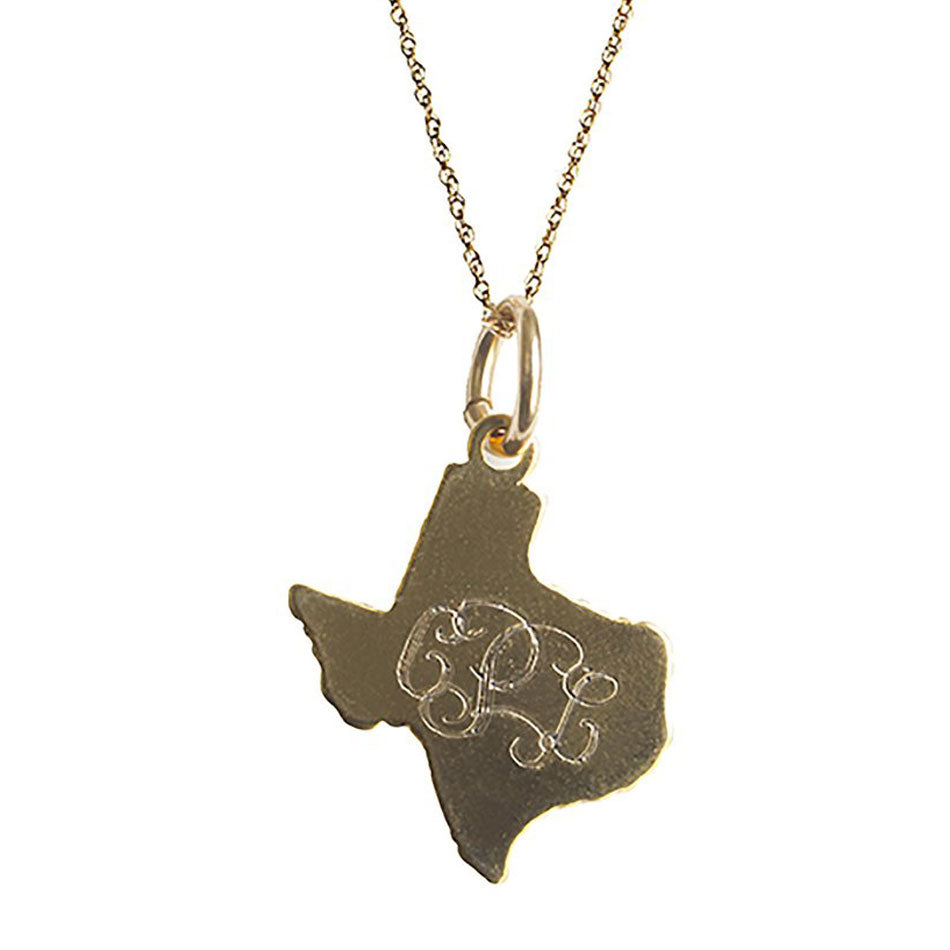 Personalized Monogram Texas Necklace