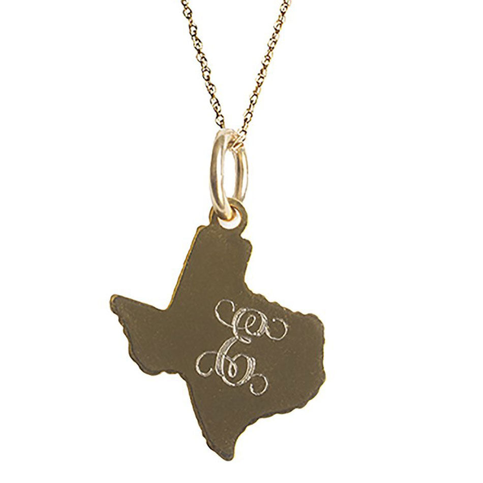 Personalized Monogram Texas Necklace 2