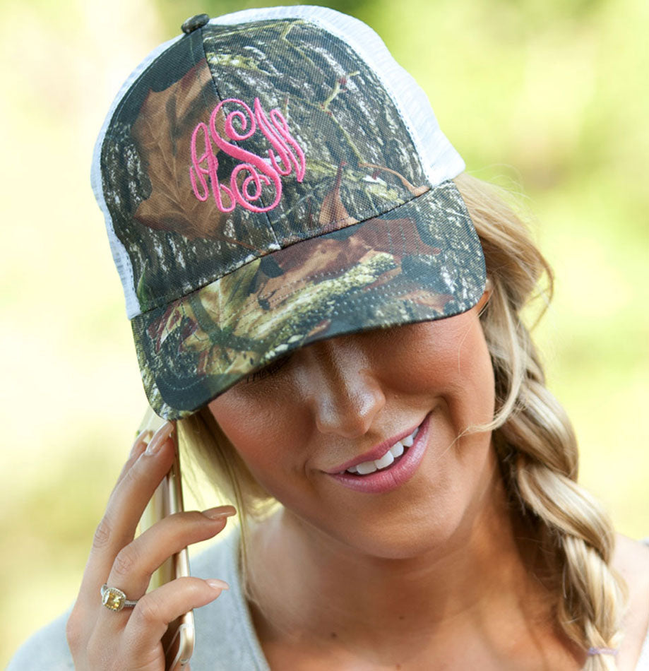 Monogram Trucker Hat - Woods