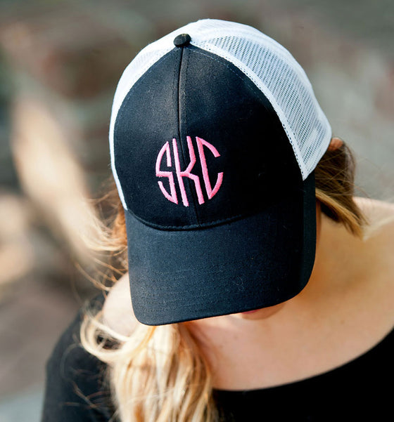 Monogram Trucker Hat - Black