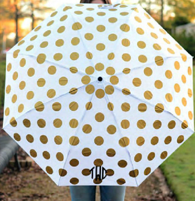 Monogram Umbrella - Gold Dot