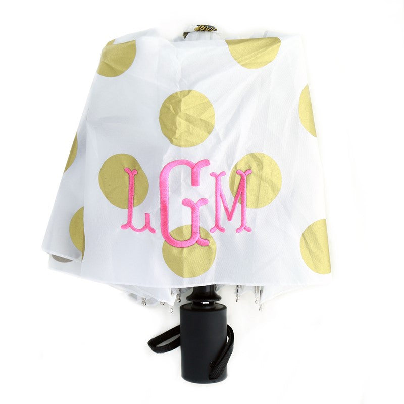 Monogram Umbrella - Gold Dot 2