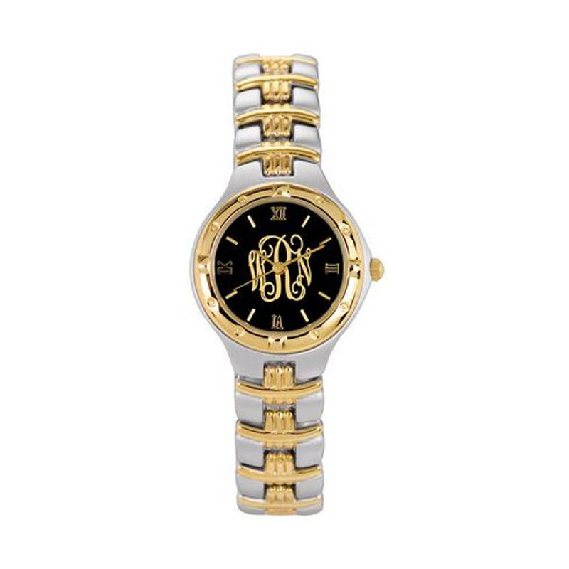 Ladies Monogram Watch - Two Toned