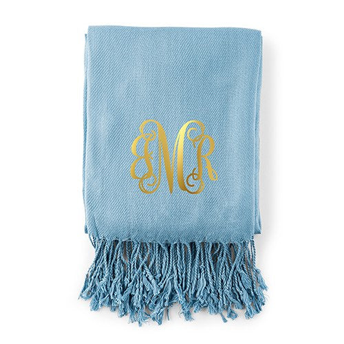 Monogram Pashmina Scarf - 5 Colors