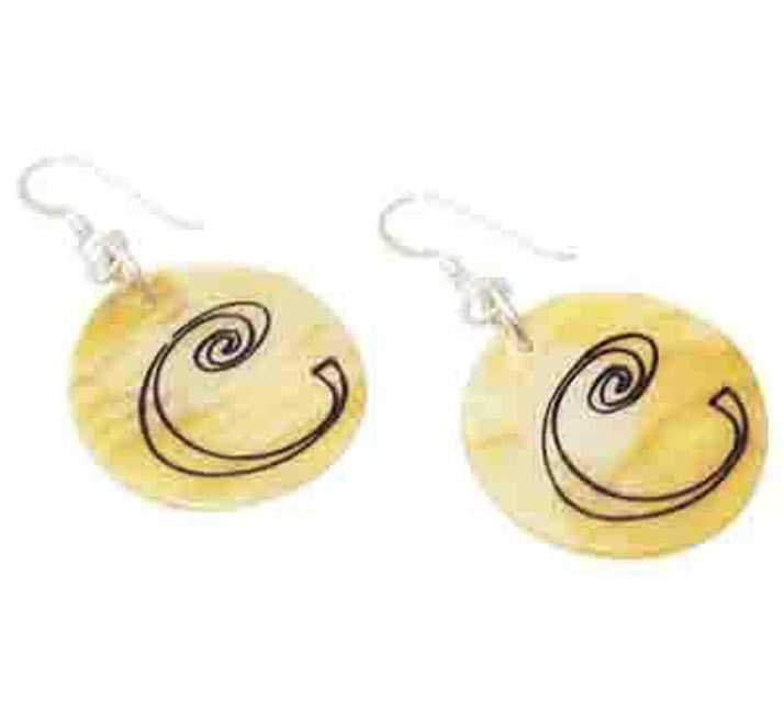 Monogram Shell Earrings - Mother of Pearl