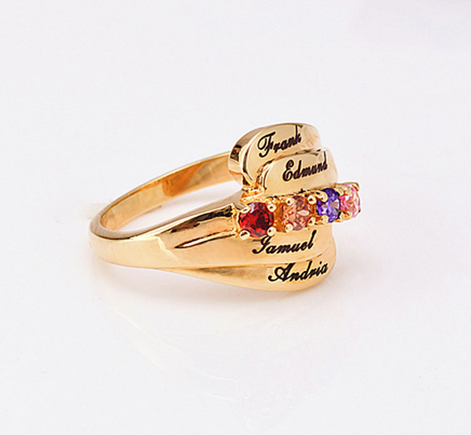 Personalized Mothers Ring with Birthstones