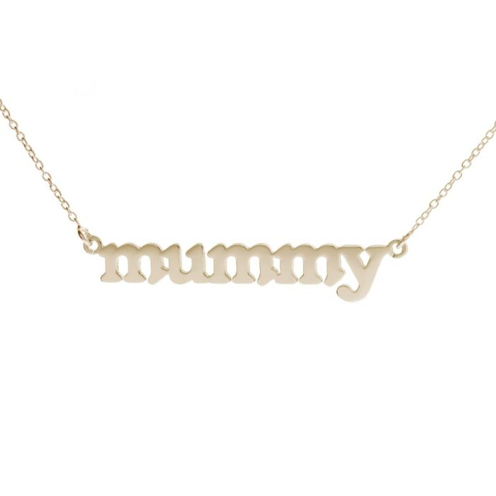 Lowercase Block Name Necklace 2