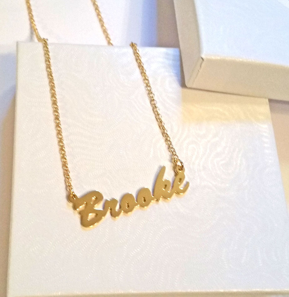 14K Gold Vermeil Name Plate Necklace - Kylie Jenner 10