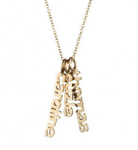 Gold Hanging Name Game Necklace As Seen On Good Morning America