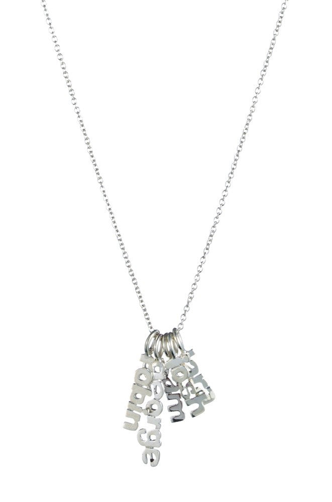 Hanging Name Game Necklace - Kourtney Kardashian