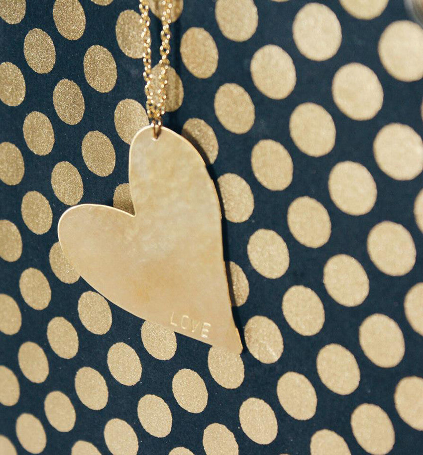 Personalized Bold Heart Identity Necklace 4