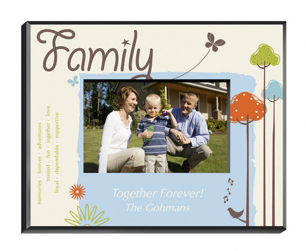 Personalized Natures Song Family Picture Frame