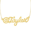 Gold Personalized Twitter Handle Necklace