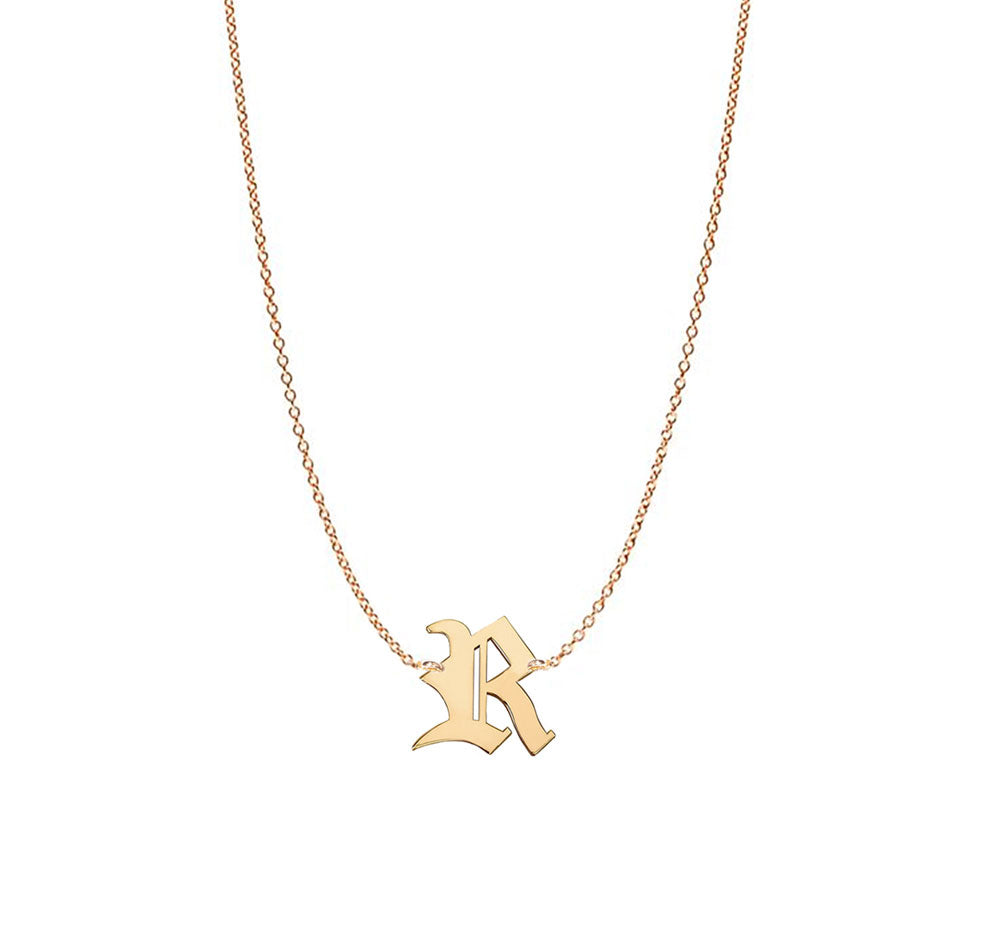Gothic Initial Necklace - Up To 4 Letters - alt image