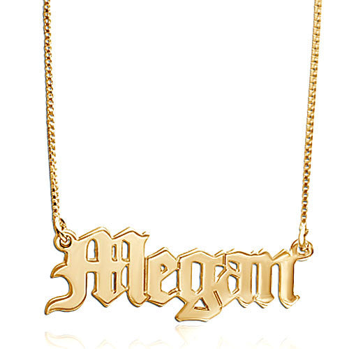 Gothic Name Necklace - Kim Kardashian