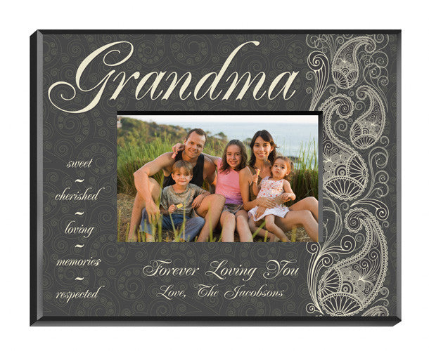 Personalized Pretty Paisley Grandma Picture Frame