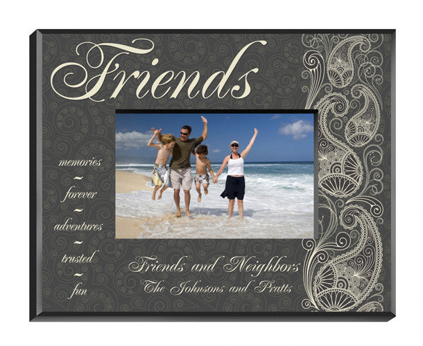 Personalized Pretty Paisley Friends Picture Frame