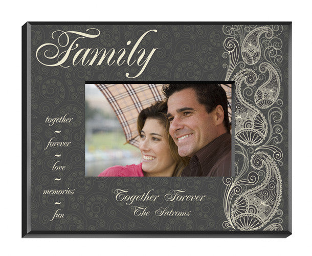 Personalized Pretty Paisley Family Picture Frame