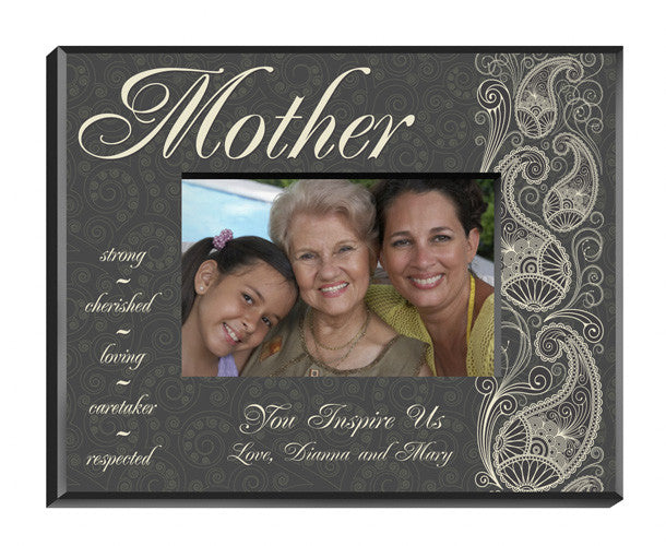 Personalized Pretty Paisley Mother Picture Frame