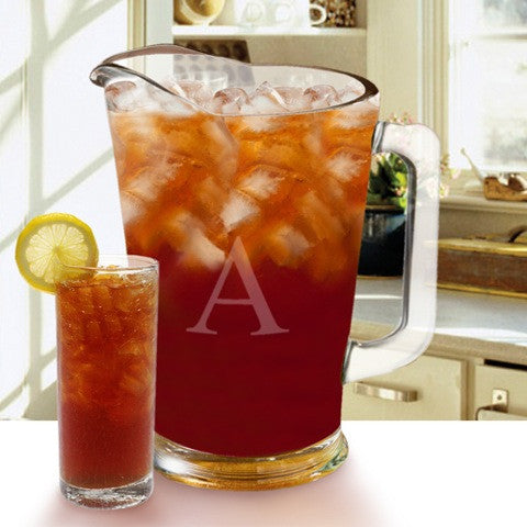 Monogrammed Glass Pitcher 2