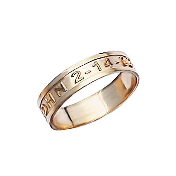 Name and Date Band Ring - 5mm
