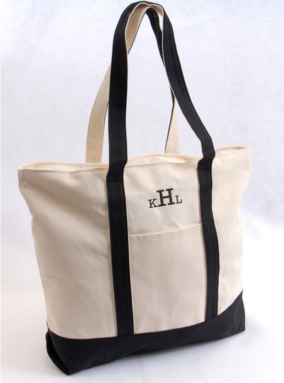 Monogram Beach Tote Bag