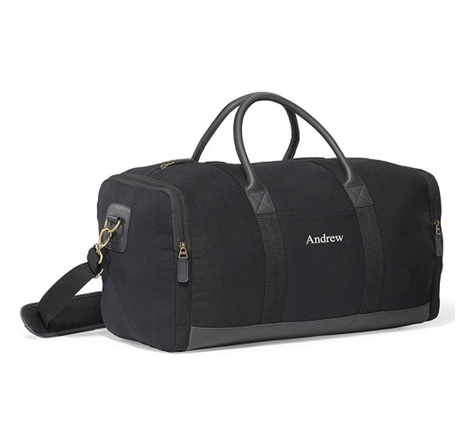 Personalized Duffle Bag - Black