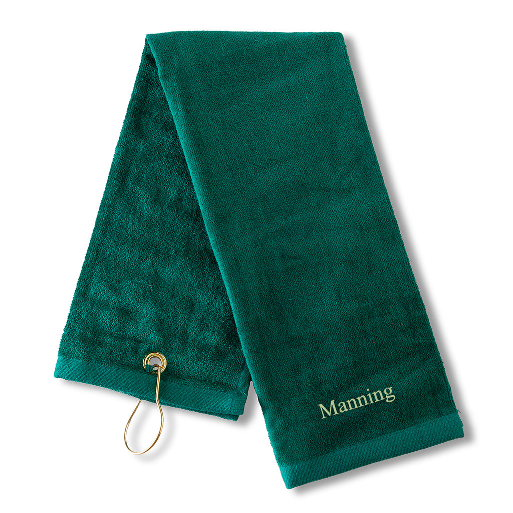 Monogrammed Sports Golf Towel green