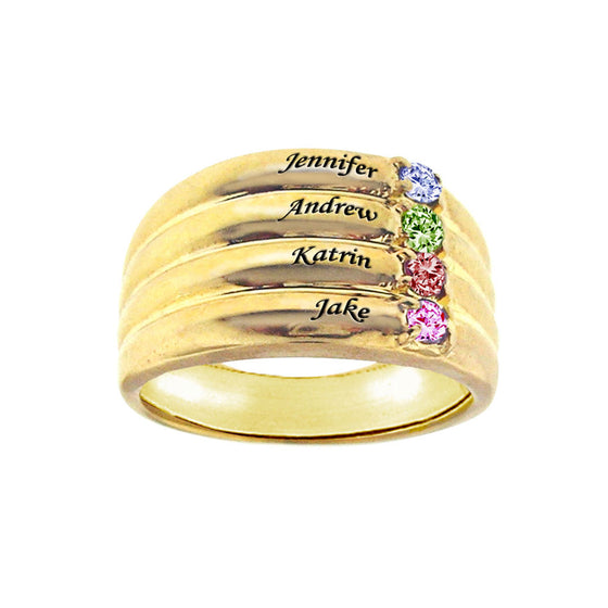 Personalized Mothers Ring - Names and Birthstones