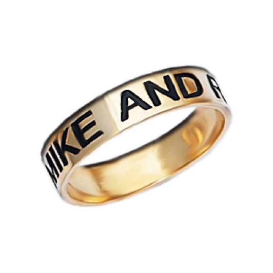 Engraved Band Promise Ring - 5mm